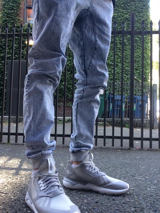 adidas tubular with joggers